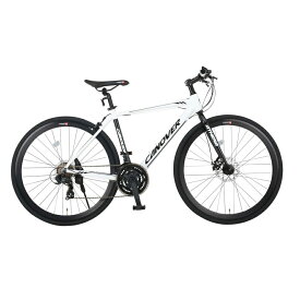 《フロントディスクブレーキ搭載》CANOVER 700x28C 21段変速クロスバイクCAC-027-DC ATHENAフレームサイズ470mm(33739)ホワイト