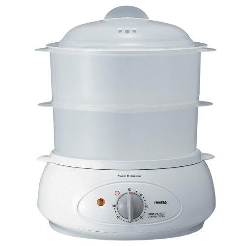 《主菜と副菜を同時に調理、便利な2段調理タイプ》ツインバード フードスチーマーSP-4137W