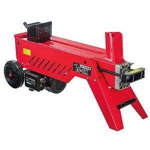 《安全に効率よく、薪を割ることができます。100V電源対応》ナカトミ 油圧式薪割機LS-6N破壊力6t・破砕能力φ350×H520mm以下