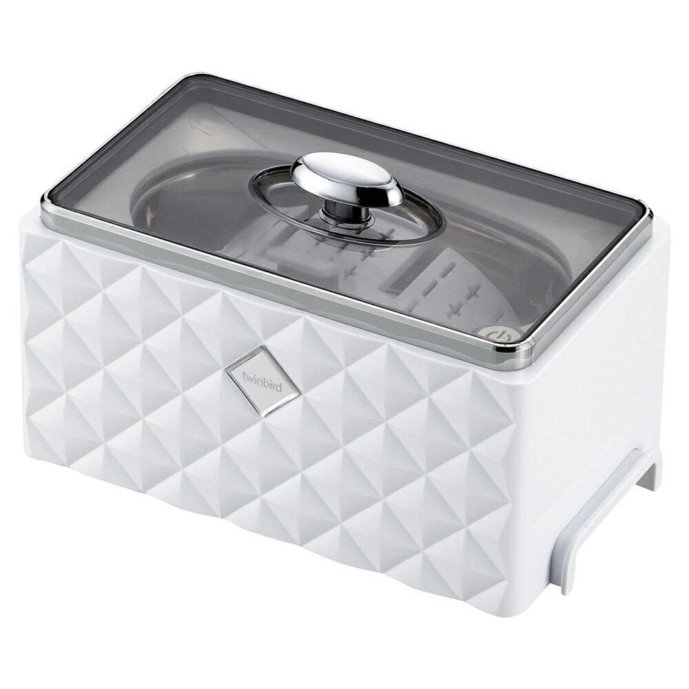 《アクセサリーホルダーで、小物類もきれいに洗浄》ツインバード 超音波洗浄機EC-4548W