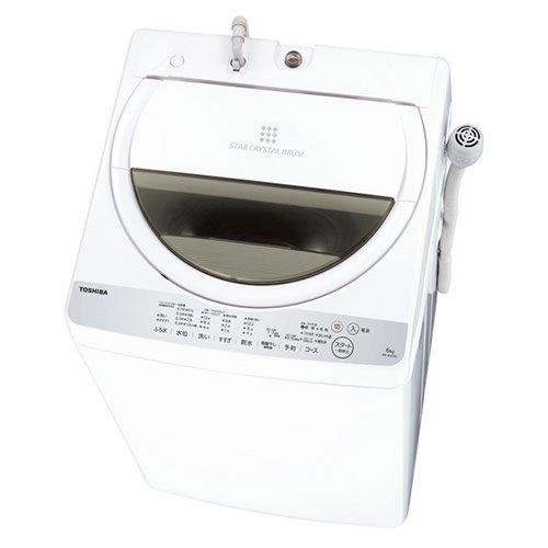 《簡単設定ですすぎ1回の節水お洗濯。最低水位12L》東芝 7.0Kg タテ型全自動洗濯機風乾燥機能付AW-7G6(W)グランホワイト