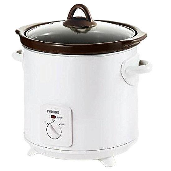 《電気の土鍋でゆっくり加熱》ツインバード スロークッカーEP-D819Wホワイト