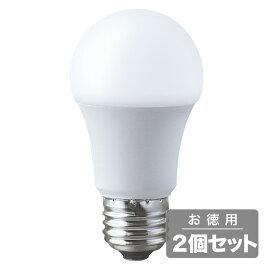 《電球から取り替えるだけで省エネ&長寿命、調光器具対応》東京メタル LED電球(E26口金一般電球形)昼白色60W相当LDA8NDK60W-TM(2個セット)調光対応