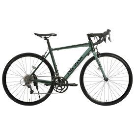《スポーティな走り心地を保証する16段変速アルミロードバイク》RIPSTOP 700x25C 16段変速ロードバイク gallop RSAR-01 (50563)グリーン