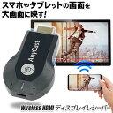 送料無料 !( 規格内 ) スマホ画面をワイヤレスで大画面へ ディスプレイレシーバー Wi-Fi 簡単接続 ミラーリング Andro…