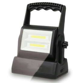 手持ち⇔置き型の2WAY仕様 超高輝度! COB型LEDライト 明るさ2段階調整 利便性抜群 照射角度を約270° 乾電池式 【 照明 明るい ハンディ アウトドア キャンプ 緊急時 防災用品 便利 】 ◇ 手持ち&置型ライト