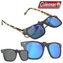 送料無料 !( メール便 ) Coleman コールマン クリップオン 偏光サングラス CL06 正規品 ウェリントン型 専用ケース付…
