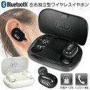 送料無料 !( 定形外 ) Bluetooth 完全ワイヤレスイヤホン ハンズフリー通話 左右独立型 充電ケース付き USB充電【 ブ…