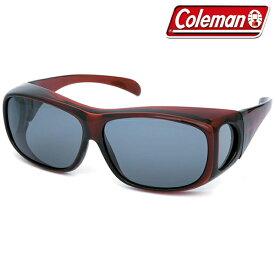 日差し/砂埃対策 Coleman コールマン 4面型 偏光レンズ オーバーサングラス CO3012-3 紫外線ほぼ100%カット 眼鏡の上から装着OK【 偏光サングラス レディース メンズ メガネ 釣り スポーツ 花粉対策 おしゃれ 】 ◇ CO3012:_3