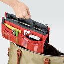 送料無料 ( メール便 ) 計10個のポケットでバッグの中を整理整頓! バッグinバッグ 移...