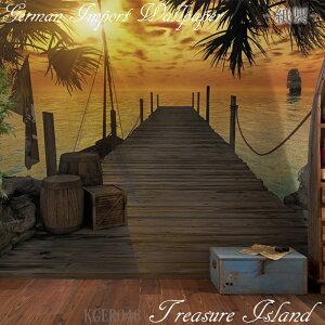[20時から4時間限定ポイント10倍]壁紙 ドイツ製【8-918】Treasure Island 「宝島」 輸入壁紙 デザイン おしゃれ 輸入 海外 外国 紙 壁紙 クロス のり付き DIY リフォーム だまし絵 風景