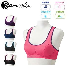【レディース】Janestyle(ジェーンスタイル)カラードフィットブラ スポーツブラ JS013TUC[スポブラ UVカット 水陸両用 ヨガウェア]