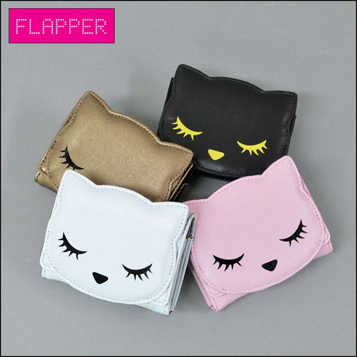 FLAPPER(フラッパー) プーちゃん (ぷーちゃん) 猫 (ねこ ネコ キャット) カードケース(財布) /レディース 雑貨 猫グッズ 黒猫 小物 かわいい/ r