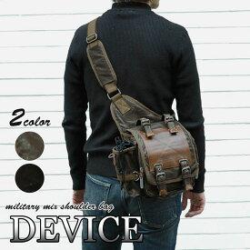 ショルダーバッグ メンズ 斜めがけ/DEVICE(デバイス) Work ショルダーバッグ(ボディーバッグ) /メンズ 斜めがけバッグ 斜めがけ ブラック 黒/ r