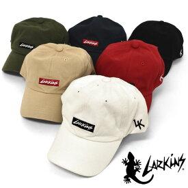 LARKiNS ラーキンス コットン ボックスロゴ ローキャップ /メンズ レディース 男女兼用 キャップ 帽子 CAP ベースボールキャップ ストリート系 カジュアル かっこいい かわいい おしゃれ アウトドア フェス ロゴ 無地 シンプル 刺繍 フリーサイズ ブランド LK トカゲ/ r