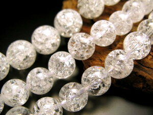 【激安宣言】【6mm珠 レインボー水晶(爆裂水晶)】一連 約39cm 【ブラジル産】【geki】