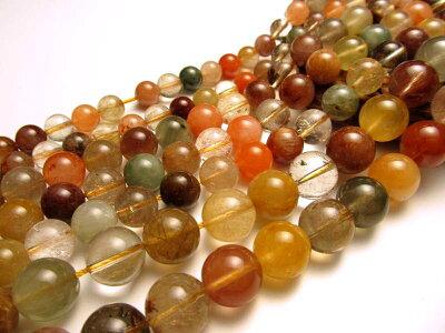 ◆連販売ルチル!◆8-8.5mm珠◆一連◆◆ゴールドルチルクォーツA【針入り水晶】◆約40cm◆