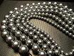◆話題の高純度テラヘルツを激安入荷!◆つやつや光沢丸珠ビーズ◆高純度テラヘルツ鉱石◆一連◆約40cm◆8mm珠◆