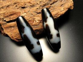 A至純天珠 双観音天珠(そうかんのんてんじゅ) サイズ:約37ミリ 1680円 極上 天然石 ビーズ パワーストーン