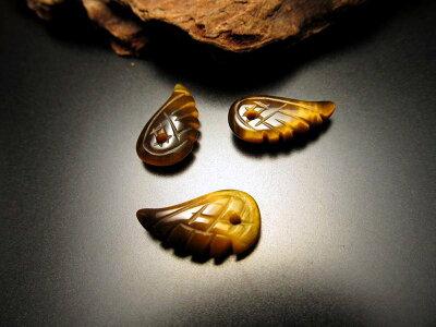 ◆新入荷!◆天使の羽天然石ビーズ◆1個289円◆◆約16×9mmサイズ◆全10種◆タイガーアイ◆