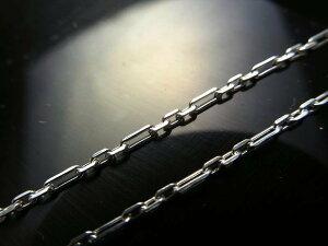 CHN057 高品質Silver925 ペンダントトップの相方 1本960円 4面カットアンカーフィガロチェーン チェーン長さ50cm 幅約1.5mm 金具最大幅約3.2mm CHN057