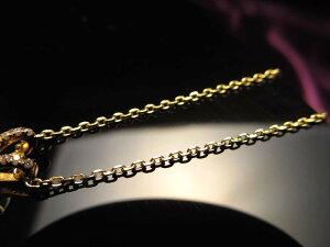 18金ゴールド仕様 CHN154 45cm 1本730円 2面カットあずきチェーン ペンダントトップの相方 チェーン長さ45cm 幅約1.3mm 金具最大幅約6mm 高品質Silver925