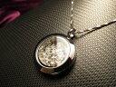 ●美麗 ハーキマーダイアモンド結晶入りステンレスケーストップ ニューヨーク州ハーキマー地区産