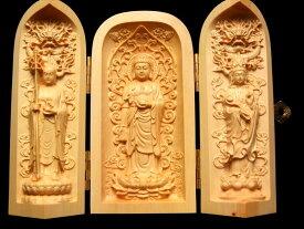 仏像 観音開き 5A極上手彫り 1体3980円 木彫り 立像(りゅうぞう)釈迦如来像 置物 高さ約100-105mm 風水やインテリアに