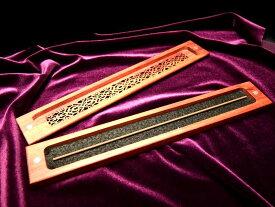 ●【高品質 お香立て】木製 スティック香立て 蓋付 ウッドインセンスホルダー 平置きタイプ マグネット付き蓋