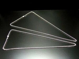 高品質でしっかりタイプ(60) 高品質Silver925 ペンダントトップの相方 丸あずきチェーン チェーン長さ60cm あずきの外径約3.0mm 金具最大幅約4.0mm