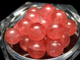 ●5A【1粒売り】極上透明 インカローズ 6-6.5mm珠 【 ロードクロサイト 】 バラ珠売り【アルゼンチン産 】