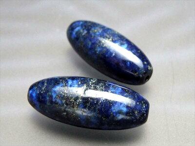 sin天珠型ラピスラズリ【青金石】約30ミリ12月の誕生石【アフガニスタン産】