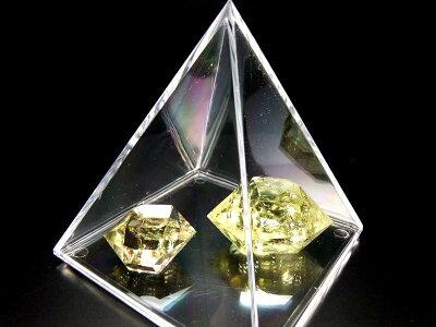 3cm【ピラミッドケース】お持ちのさざれ石でピラミッドに♪レアストーンさざれにピラミッドパワー注入!!【Sサイズ】