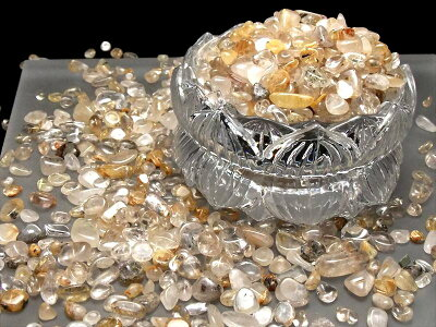 ◆限定!◆針入り水晶さざれ◆1キロ◆◆ルチルクォーツサザレ◆2980円◆中【約7ミリ-12ミリ】◆