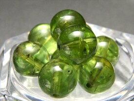 限定21珠 4A【【1粒売り】透明宝石質 ペリドット】約9mm前後 鮮やかな黄緑色 かんらん ビーズ石 バラ珠販売【ミャンマー産】