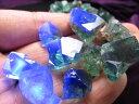●産地直送 強蛍光蛍石【蛍光フローライト結晶原石 詰め合わせ】約100g入り 粒の大きさ約7-20mm 神秘的美しさの結晶【…