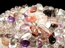 ●今回入荷は小粒で超透明【スーパーセブン さざれ(クリスタル)】200グラム 他鉱物を閉じ込めた水晶 浄化用 粒の大き…