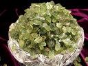 【濃色グリーンアパタイトさざれ ナチュラル原石小粒タイプ】 100グラム 粒の大きさ約4ミリ-8ミリ 【ブラジル産】