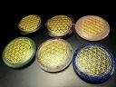 ●【フラワーオブライフ(生命の花)パームストーン タンブル】 調和とバランスを表す図形 選べる6種のストーン