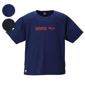 【大きいサイズ】【メンズ】 arena(アリーナ) ラッシュガード半袖Tシャツ 3L/4L/5L/6L スイムウェア マリンスポーツ 日焼け防止