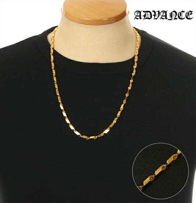 ADVANCE ネックレス メンズ ゴールド チェーン アドバンス ネックレス ペンダント B系 ストリート系 ヒップホップ ダンス 衣装 ブランド ファッション シンプル 金