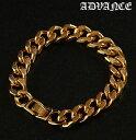 アドバンス ブレスレット メンズ ゴールド ADVANCE アクセサリー B系 ストリート系 ヒップホップ ダンス 衣装 ブラン…