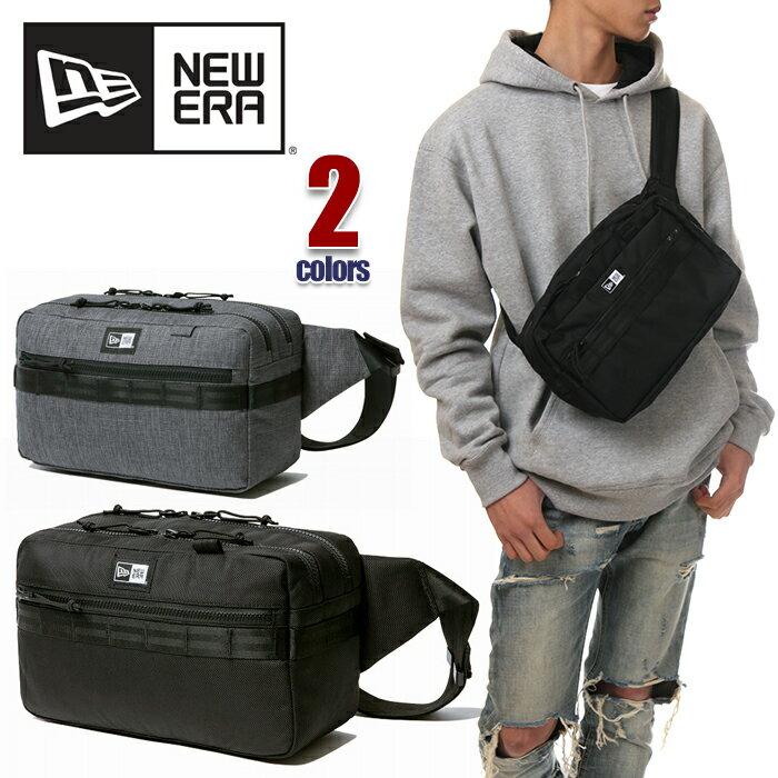 ニューエラ ショルダーバッグ 斜めがけ メンズ レディース NEW ERA バッグ ウエストバッグ ヒップバッグ ボディバッグ 7L NEWERA SQUARE WAIST BAG かっこいい 通学 ブランド 黒 ブラック グレー