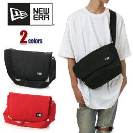 ニューエラ ショルダーバッグ 斜めがけ メンズ レディース NEW ERA バッグ 小さめ 軽い 9L NEWERA SHOULDER BAG 通学 ブランド 黒 ブラック 赤 レッド グレー