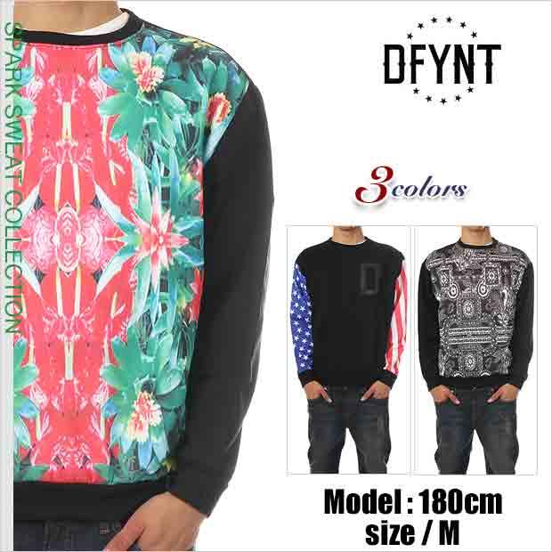 DEFYANT トレーナー ディファイエント トレーナー スウェット メンズ ストリート系 ファッション
