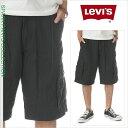 リーバイス ハーフパンツ メンズ カーゴパンツ LEVI'S カーゴ ショーツ ベルト付 LEVIS 大きいサイズ ブラック 黒