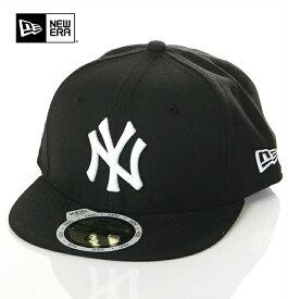 ニューエラ キャップ キッズ 帽子 NEW ERA CAP フィッテッドキャップ NY ニューヨーク ヤンキース ベースボールキャップ アメカジ スポーツ B系 ストリート系 ヒップホップ ダンス 衣装 USA ブランド ファッション 黒 ブラック