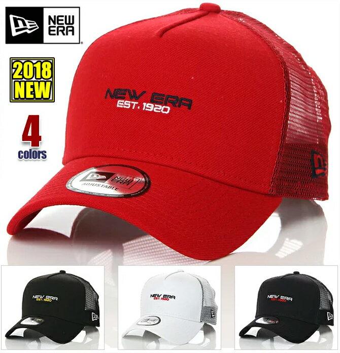キャップ ニューエラ メッシュキャップ メンズ レディース 帽子 NEW ERA CAP 9FORTY A-Frame トラッカー EST.1920 SP スナップバック キャップ ベースボールキャップ 無地 ロゴ サイズ調整式 ユニセックス ブラック ホワイト ネイビー レッド 白 黒 紺 赤