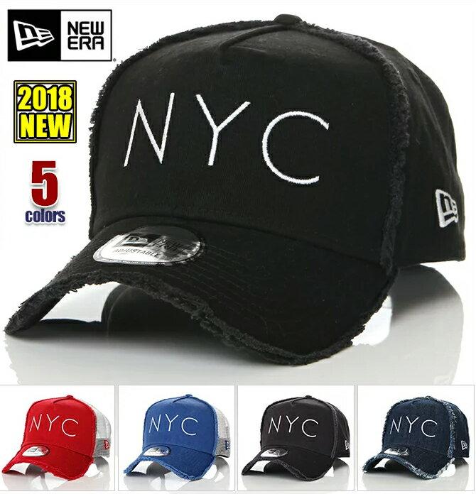 ニューエラ キャップ メンズ レディース メッシュキャップ スナップバック NEW ERA 9FORTY NYC CAP ニューヨーク ウォッシュ加工 帽子 アメカジ スポーツ B系 ストリート系 ヒップホップ ダンス 衣装 USA ブランド ファッション 黒 紺 赤 青 デニム ブラック ネイビー