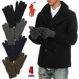 ラルフローレン 手袋 スマホ対応 メンズ POLO RALPH LAUREN てぶくろ グローブ 防寒 USAモデル ブランド ファッション 黒 紺 茶 グレー ブラック ネイビー ブラウン